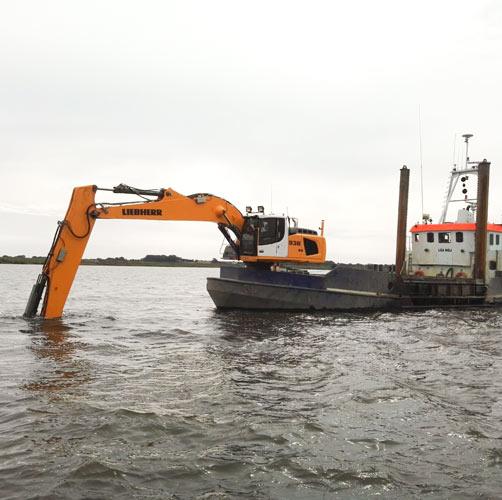 Nassbaggerarbeiten Rostock Wasserbau
