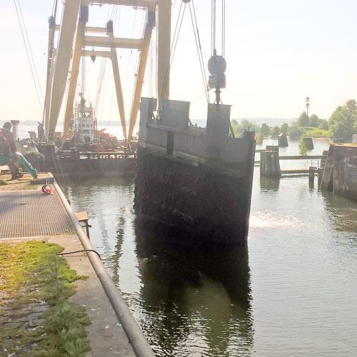 Arge Sicherung alte Schleuse Kiel-Holtenau